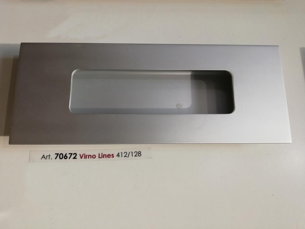 Ручка меблева врізна Virno Style 412  алюміній