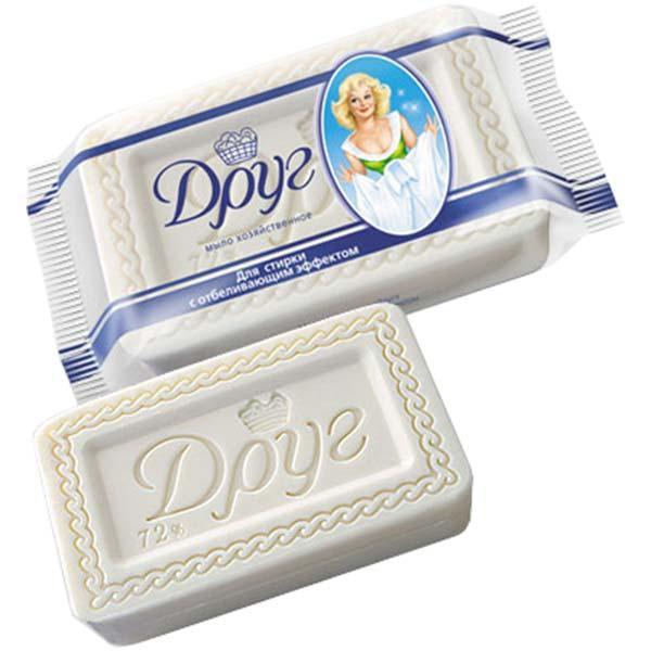 Хозяйственное мыло Друг для стирки с отбеливающим эффектом 125 г