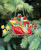 """Набор для вышивания крестом """"Новогодние игрушки"""" Т-01"""