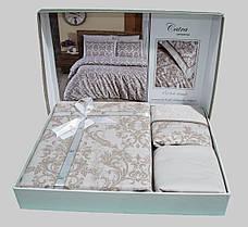 First Choice Комплект постельного Satin Delux CATRA SAMPANYA 200*220, фото 3