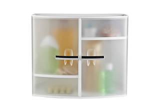 Настенный шкаф с дверцами (прозрачно-натуральный), Prima Nova, 08416