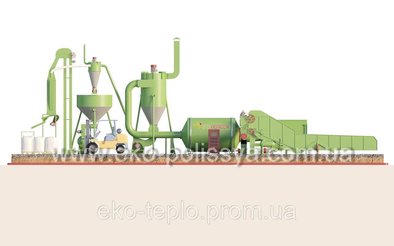 Пуско-наладка, производство пеллет и брикета, обучение и монтаж сушки АВМ 0-65