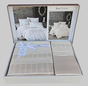 First Choice Комплект постельного Satin Delux NEW TREND KREM 200*220, фото 2