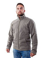 Флисовая мужская кофта (размеры S-3XL в расцветках) серый, M