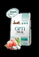 Сухой корм для котят с курицей 4 кг OPTIMEAL ОПТИМИЛ