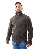 Флисовая мужская кофта (размеры S-3XL в расцветках) темно-зеленый, XL