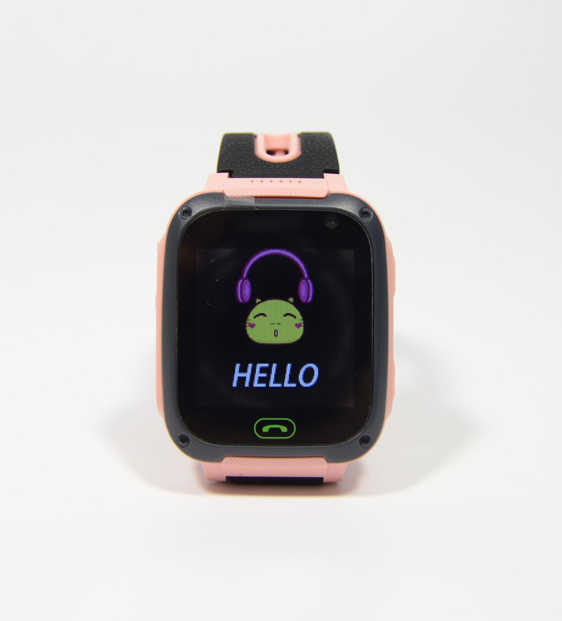 Детские наручные умные часы Smart Watch F2(GPS + SOS+родительский контроль + фонарик)розовые