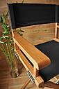 Стул для визажиста, складной, деревянный, стул режиссера, стул для фото сессии, цвет - орех., фото 3