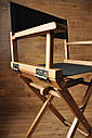 Стул для визажиста, складной, деревянный, стул режиссера, стул для фото сессии, цвет - орех., фото 2