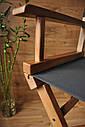 Стул для визажиста, складной, деревянный, стул режиссера, стул для фото сессии, цвет - орех., фото 5