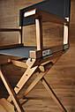 Стул для визажиста, складной, деревянный, стул режиссера, стул для фото сессии, цвет - орех., фото 4