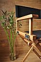 Стул для визажиста, складной, деревянный, стул режиссера, стул для фото сессии, цвет - орех., фото 7