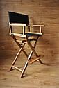 Стул для визажиста, складной, деревянный, стул режиссера, стул для фото сессии, цвет - орех., фото 8