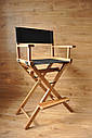 Стул для визажиста, складной, деревянный, стул режиссера, стул для фото сессии, цвет - орех., фото 6