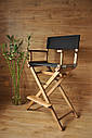 Стул для визажиста, складной, деревянный, стул режиссера, стул для фото сессии, цвет - орех., фото 10