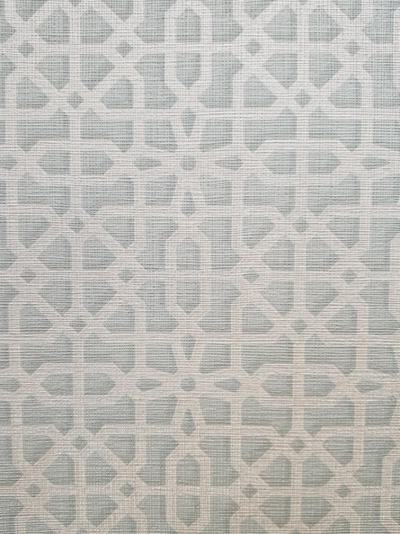 Обои виниловые на флизелиновой основе  GranDeco OS3307  Opus фигуры геометрия голубой белые полосы