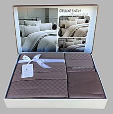 First Choice Комплект постельного Satin Delux SQUARE VIZON 200*220, фото 2