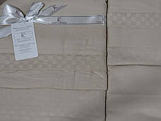 First Choice Комплект постельного Satin Delux SQUARE TOPRAK 200*220, фото 3