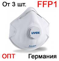 Защитная маска респиратор Uvex 2110 FFP1 с клапаном (фиксатор для переносицы, захисна маска респіратор)