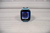 Детские наручные умные часы Smart Watch F2 (GPS + SOS+родительский контроль + фонарик)голубые, фото 6