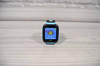 Детские наручные умные часы Smart Watch F2 (GPS + SOS+родительский контроль + фонарик)голубые, фото 7