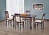 Кухонний стілець з масиву дерева з м'якою сидушкою,спинкою -Сітроен (горіх темний), фото 2