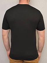 Термофутболка мужская потоотводящая из ткани кулмакс чёрная, фото 3