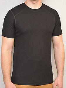 Футболка (термофутболка) чёрная из потоотводящей ткани CoolPass