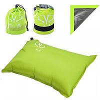 Надувная подушка (подголовник) для путешествий, отдыха, пляжа, под шею в самолет Stenson (YFC500)