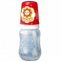 Бутылочка детская для кормления новорожденных с ручками и и латексной соской НЯМА 125 мл Мирта (6663)