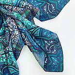 10394-12, павлопосадский платок из вискозы с подрубкой 80х80, фото 4