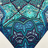 10394-12, павлопосадский платок из вискозы с подрубкой 80х80, фото 6