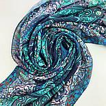 10394-12, павлопосадский платок из вискозы с подрубкой 80х80, фото 8