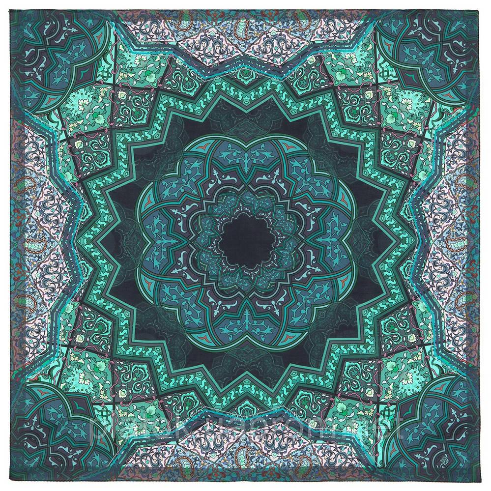 10394-12, павлопосадский платок из вискозы с подрубкой 80х80