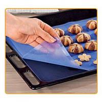 Силіконовий килимок для випічки і кондитерки антипригарний для запікання і розкочування тіста 37х27см (ПН-025)