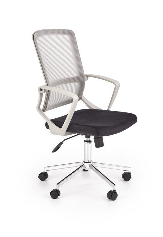 Крісло комп'ютерне FLICKER світло-сіро-чорний (Halmar)