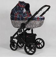 Детская универсальная коляска 2в1 Baby-Merc Bebello B/126A Клетка