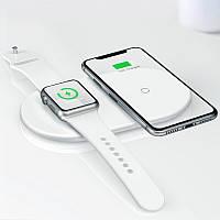 Беспроводное зарядное 2 в 1 для айфона и Apple Watch Baseus Smart 2in1 (Type-C Version)