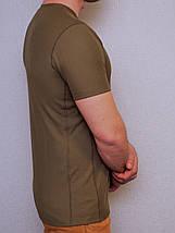 Футболка оливковая из потоотводящей ткани CoolPass, фото 2