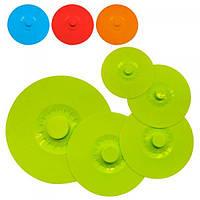 Крышки для посуды силиконовые многоразовые набор из 5 шт Stenson (R86850)