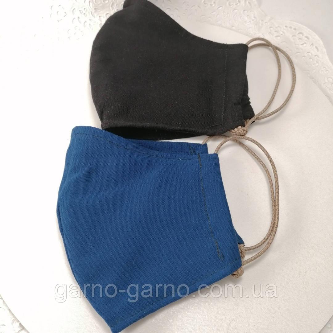 Многоразовая 3 слойная защитная  трикотаж тканевая маска маска для лица многоразовая детская женская мужская