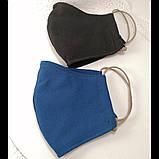 Многоразовая 3 слойная защитная  трикотаж тканевая маска маска для лица многоразовая детская женская мужская, фото 2