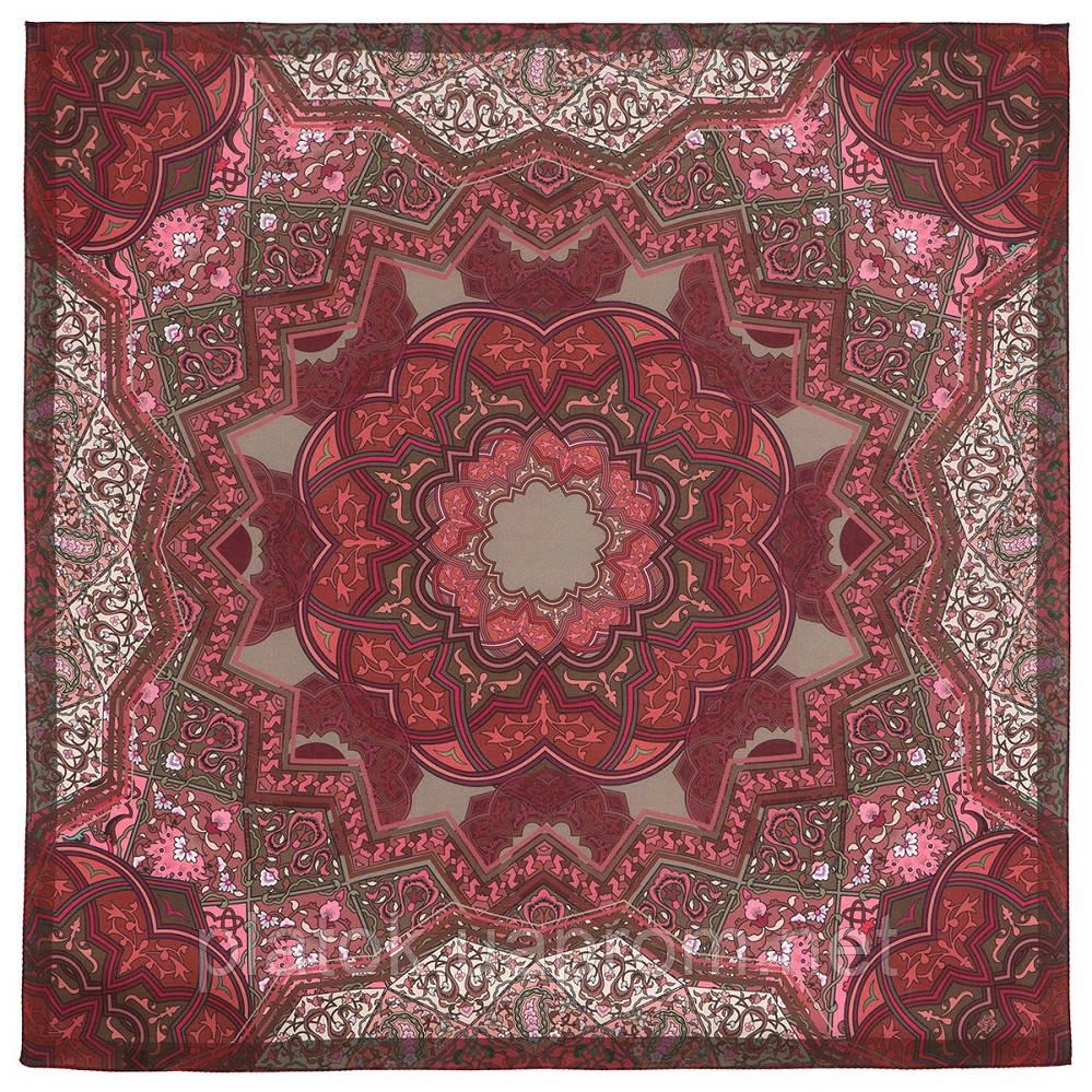10394-6, павлопосадский платок из вискозы с подрубкой 80х80