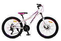 "Benetti Expert 24 Forte DD Велосипед 13"" 2019 NEW бело-розовый"