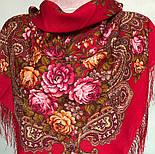 Незнакомка 779-3, павлопосадский платок шерстяной  с шелковой бахромой, фото 2