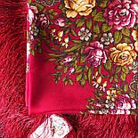 Незнакомка 779-3, павлопосадский платок шерстяной  с шелковой бахромой, фото 3