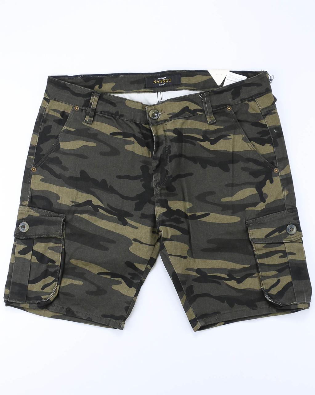 Шорты джинс черный камуфляж MARIO карман К-1 30(Р) 0031