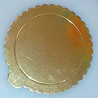 Подложка для торта круглая золотого и серебряного цвета Ø 220 мм (1уп 10 шт)
