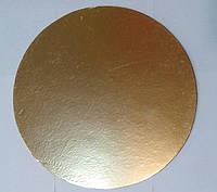 Подложка для торта круглая золотого и серебряного цвета Ø 400 мм (уп 5 шт)