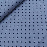 Ткань с мелкой графитовой звездочкой на сером фоне, ширина 160 см